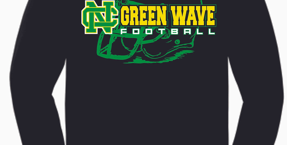 NC Football Black Cotton Longsleeve