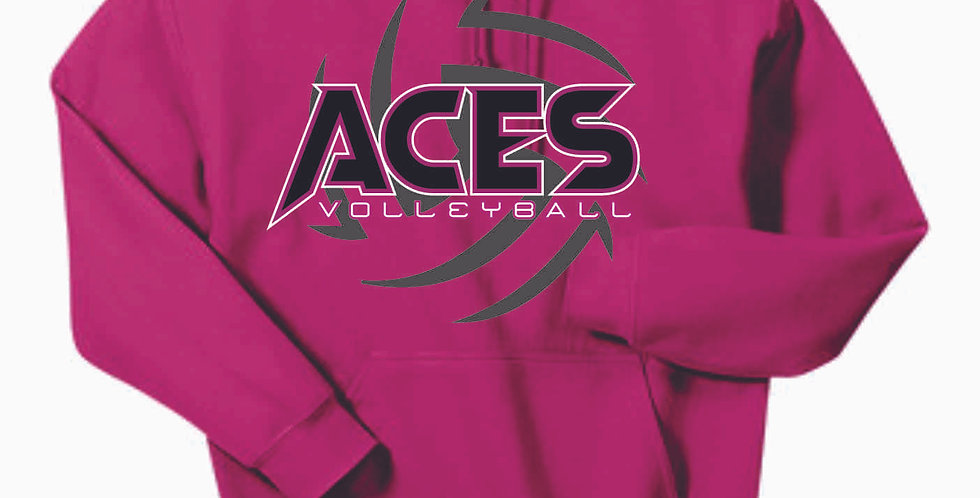 Aces Volleyball Pink Cotton Hoody
