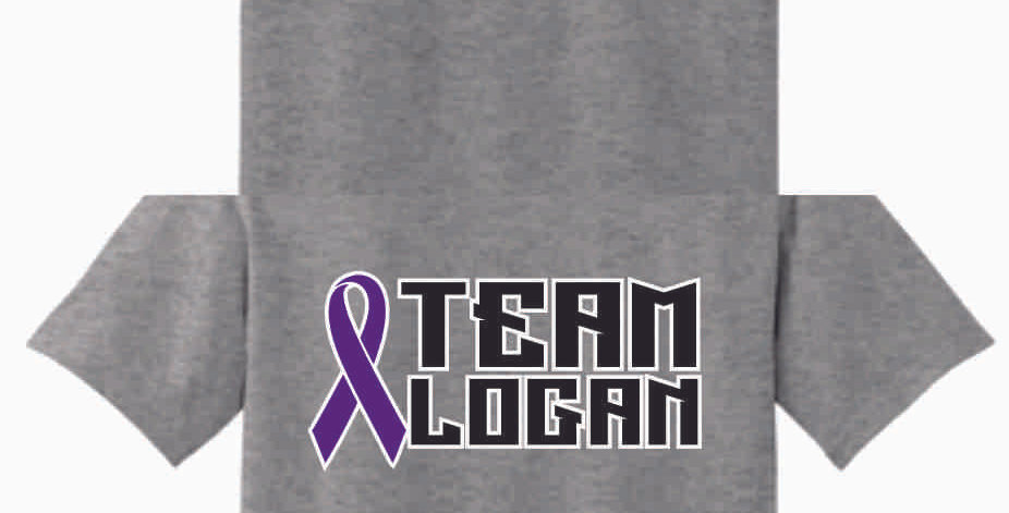Team Logan Sport Grey Cotton T Shirt
