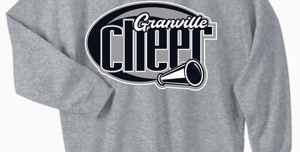 Blue Aces Grey Cotton Crewneck Sweatshirt