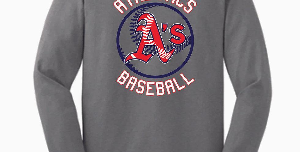 A's Baseball Grey Circle Cotton Longsleeve