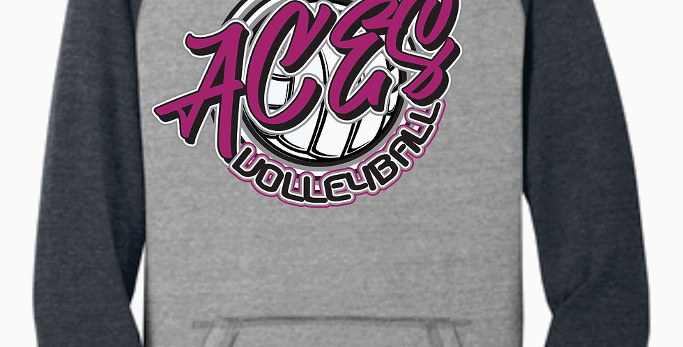 Aces Volleyball District Script Two Toned Hoody