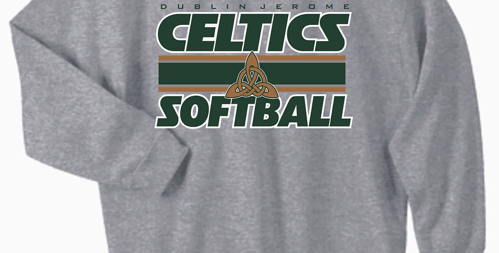 Dublin Jerome Softball Grey Cotton Crewneck