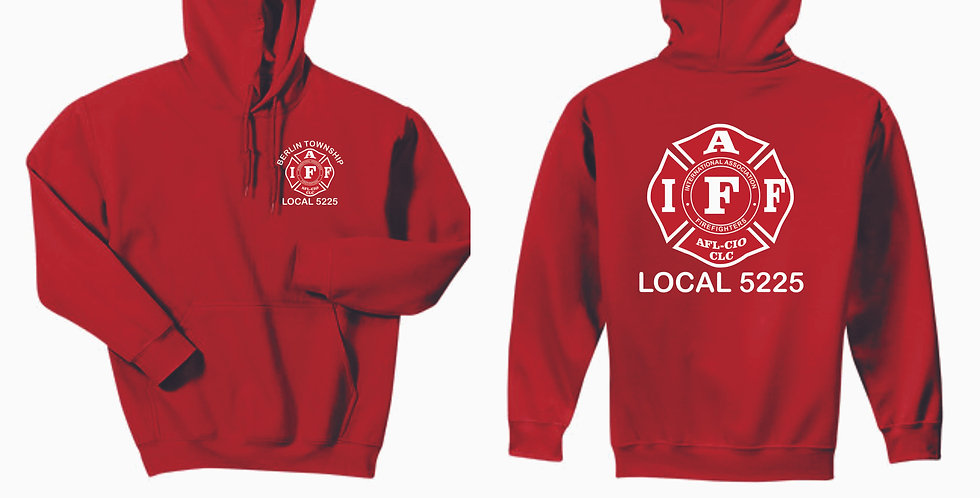 Berlin Township Fire Red Hooded Sweatshirt