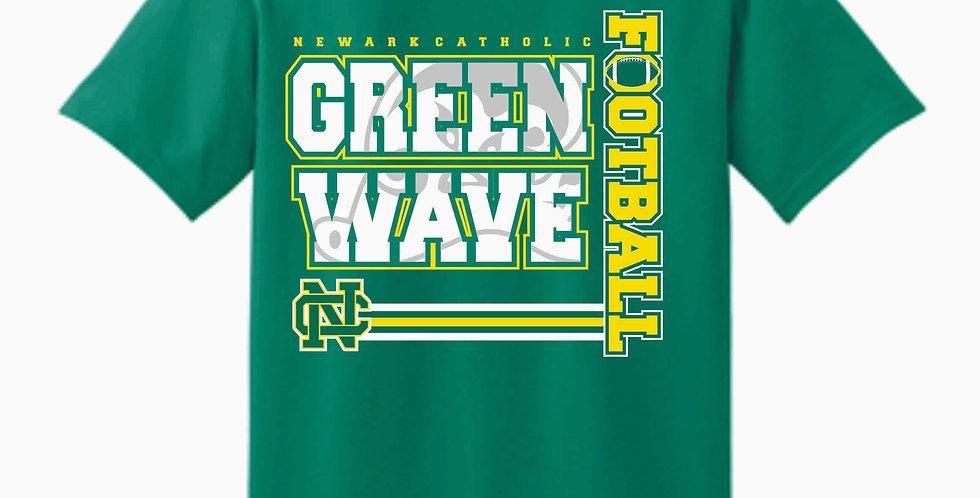 NC Football Sport Kelly Green Cotton T Shirt