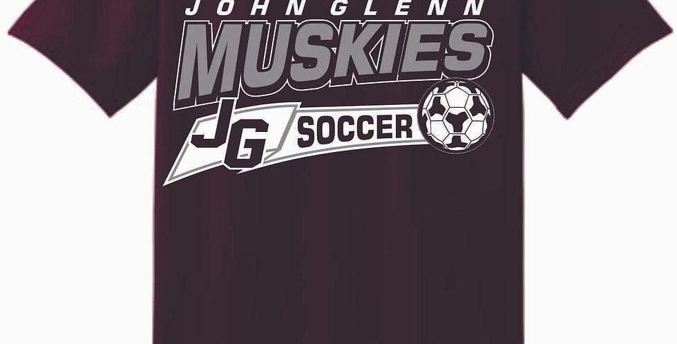 John Glenn Soccer Maroon Cotton T Shirt