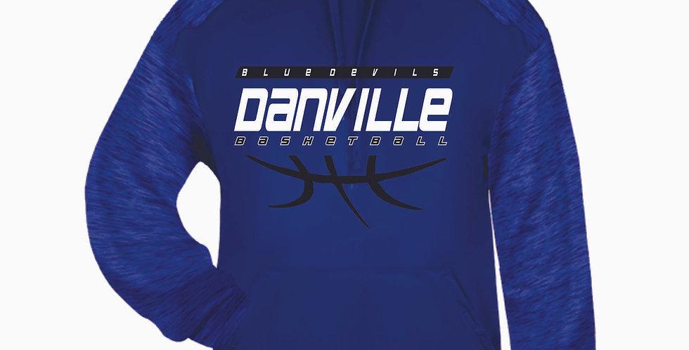 Danville Basketball Royal Tonal Blend Poly Hood
