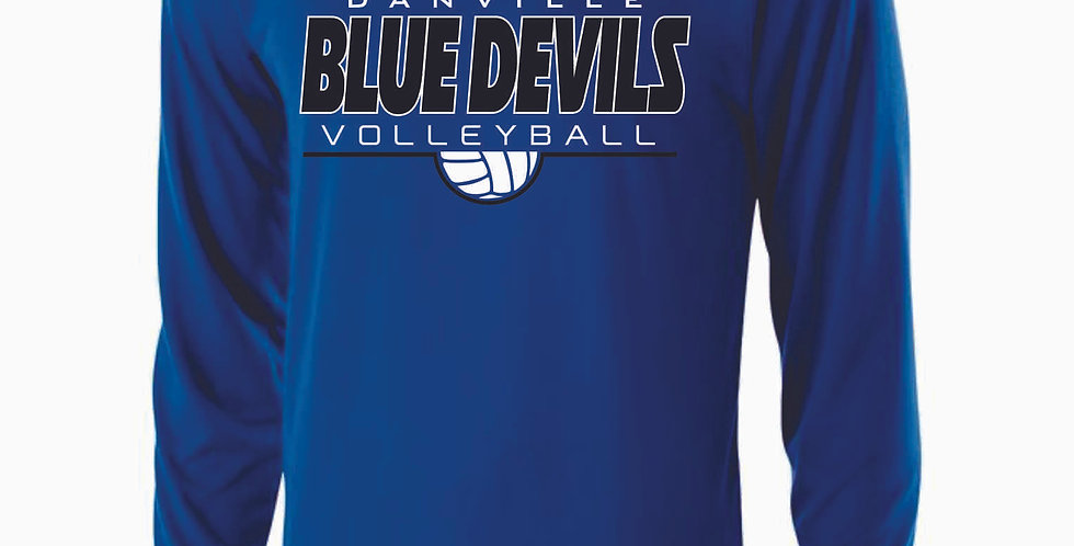 Danville Volleyball Simple Royal Longsleeve Dri Fit