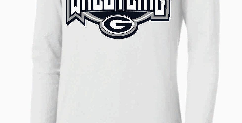 GHS Wrestling White Nike Core Cotton Long Sleeve
