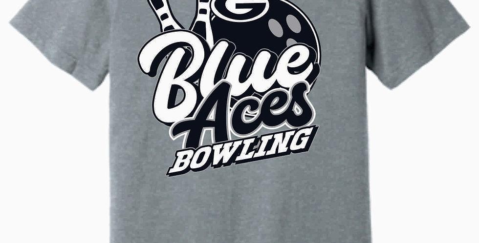 Blue Aces Soft Grey T shirt