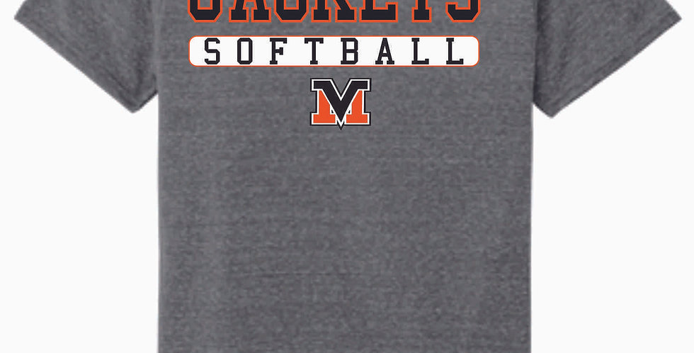 Mount Vernon Softball Simple Grey Soft T Shirt
