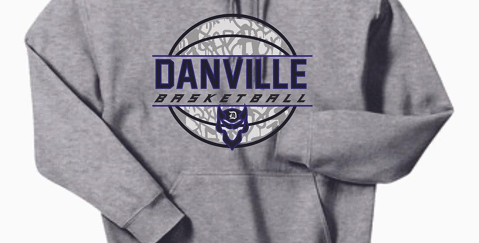 Danville Basketball Grey Hoody