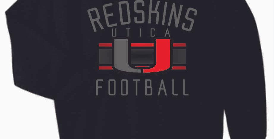 Utica Football Black Cotton Crew