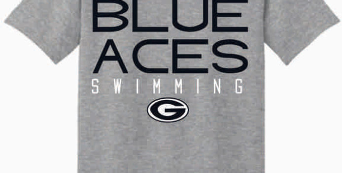 GHS Swimming Grey Cotton T-Shirt