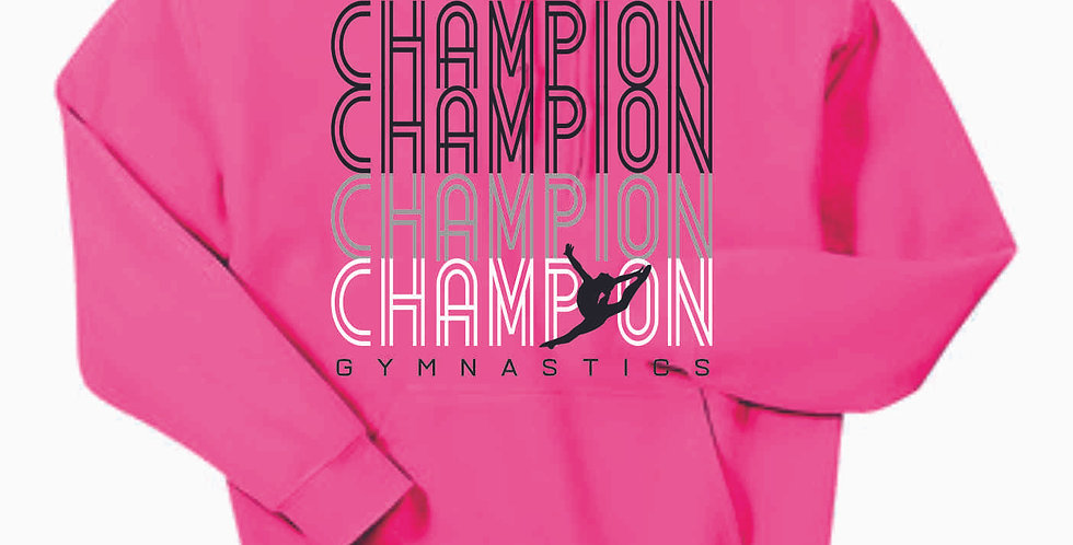 Champion Gymnastics Safety Pink Cotton Hoody