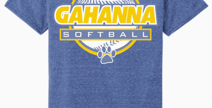 Gahanna Royal Jerzee Snow Heather T shirt