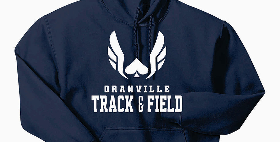 Granville Track and Field Navy Original Hoody