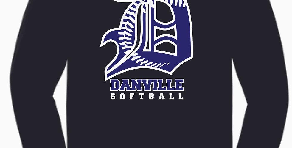 Danville Softball Black Cotton Longsleeve