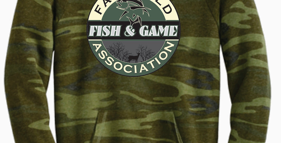 Fairfield Fish and Game Ladies Camo Crew