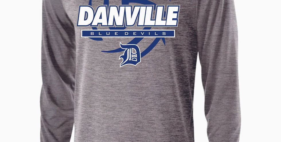 Danville Volleyball Grey Longsleeve Dri Fit