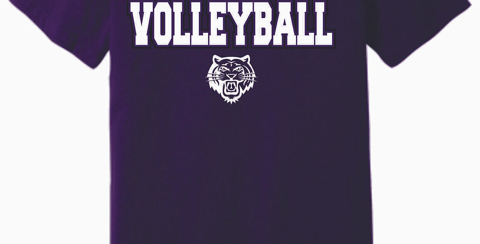 Tiger Volleyball Purple Simple Soft T