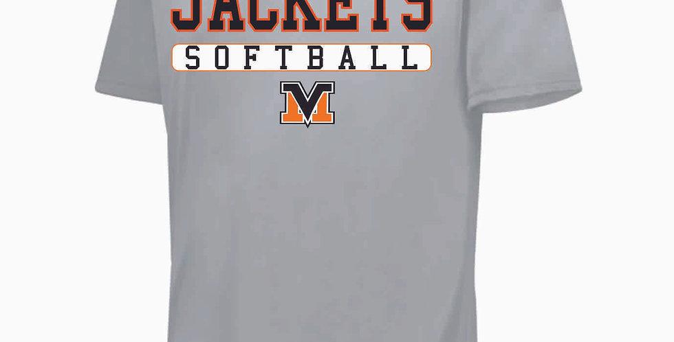 Mount Vernon Softball Simple Grey Shortsleeve Dri Fit