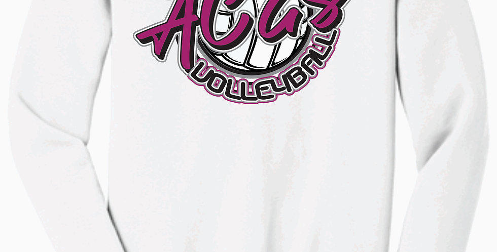 Aces Volleyball White Script Bella Canvas Soft Crewneck