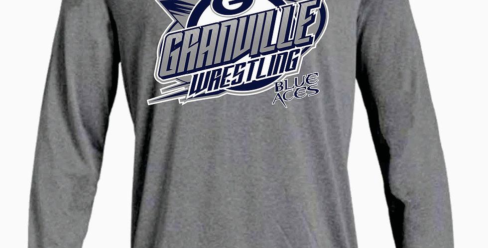 Granville Wrestling Under Armour Grey Dri Fit Longsleeve