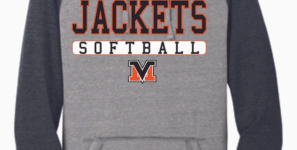 Mount Vernon Softball Simple Two Toned Hoody