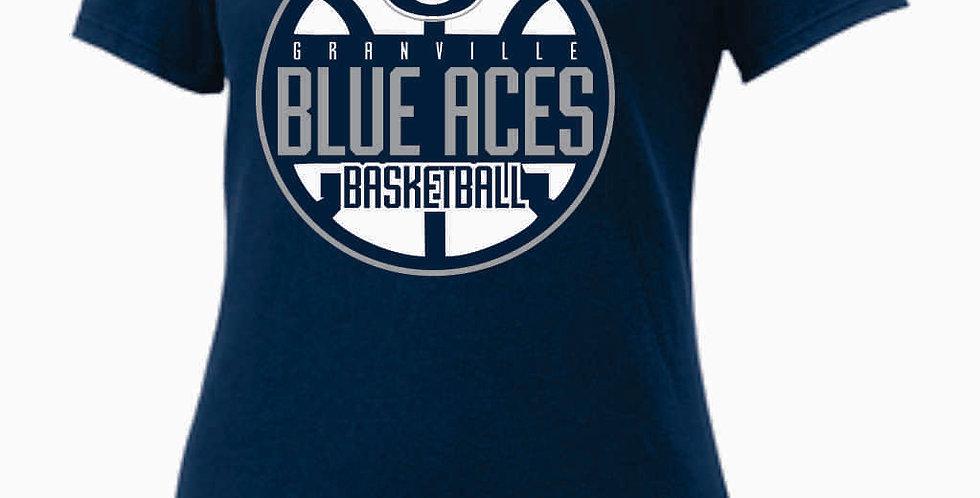 GHS Nike Basketball Navy Ladies Core Cotton Scoop Neck Tee