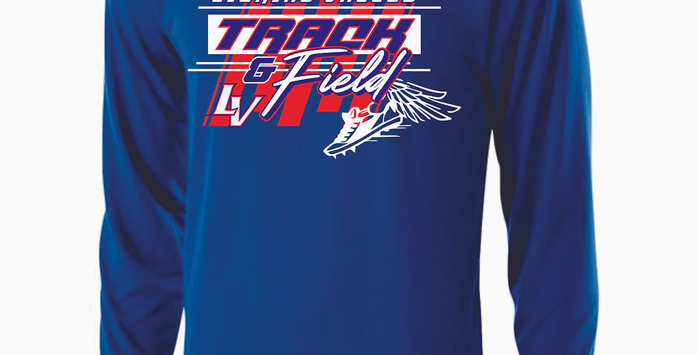 Licking Valley Track and Field Royal Dri Fit Longsleeve