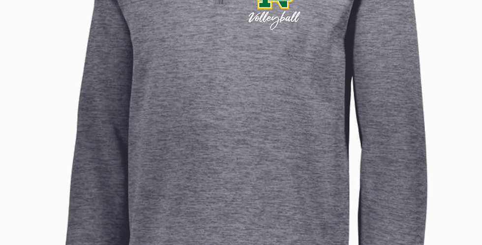 NC Volleyball Grey Poly Pullover