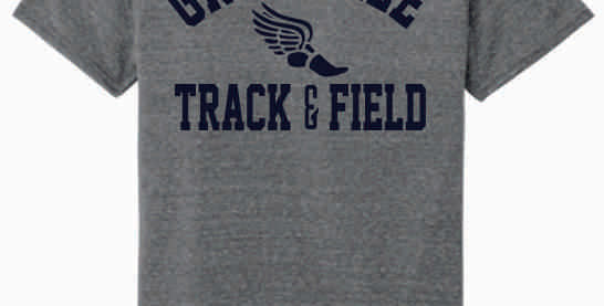 Granville Track and Field Grey Soft T shirt
