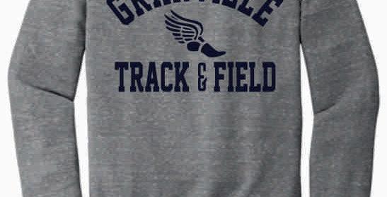 Granville Track and Field Grey Soft Crewneck