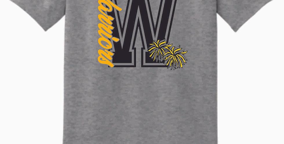 Watkins Cheer Grey Cotton T Shirt