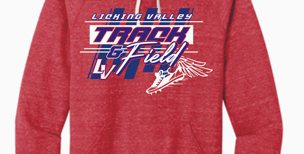 Licking Valley Track and Field Red Soft Hoody