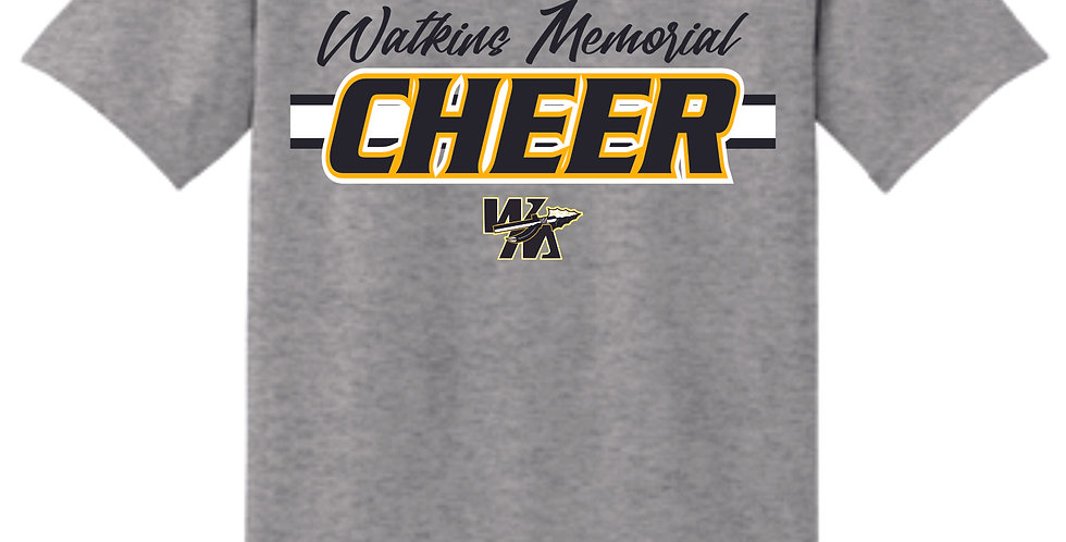 Watkins Cheer Grey Cotton T Shirt