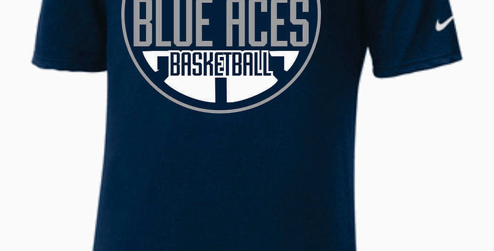 GHS Basketball Navy Nike Core Cotton T-Shirt