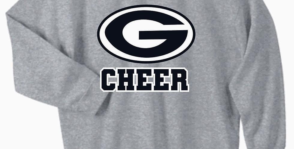 Blue Aces Grey Generic Cotton Crewneck Sweatshirt