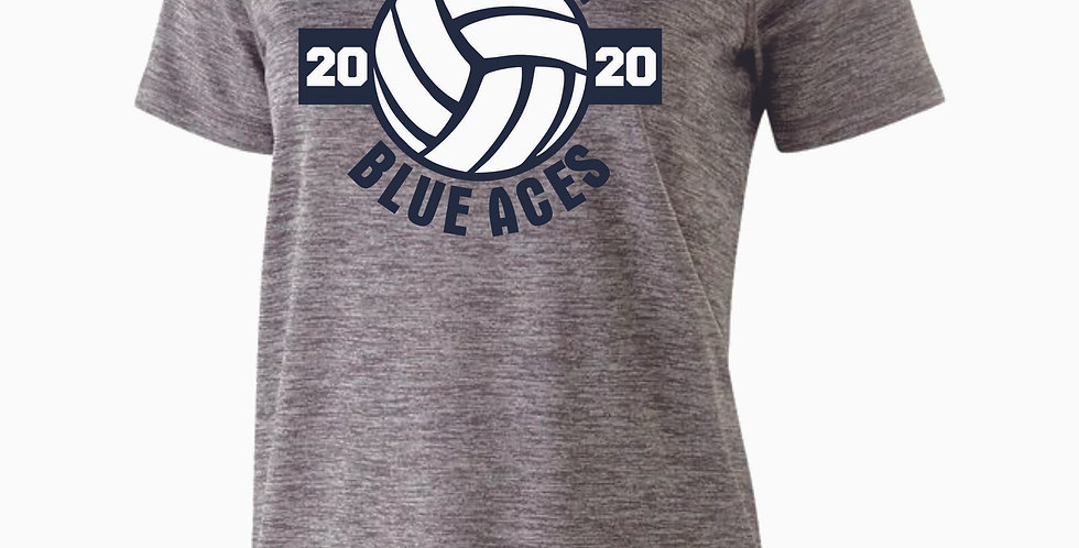 Granville Volleyball Grey Dri Fit Short Sleeve