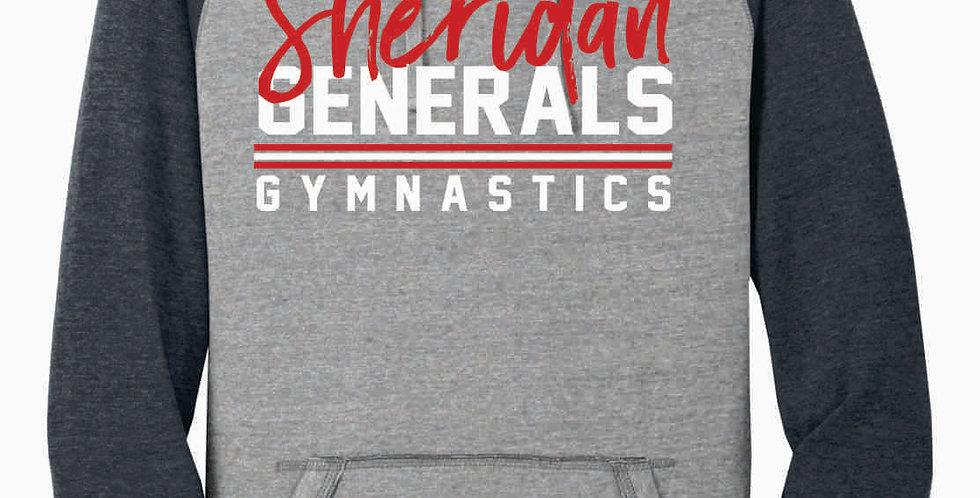 Sheridan Gymnastics Grey Two Toned Hoody