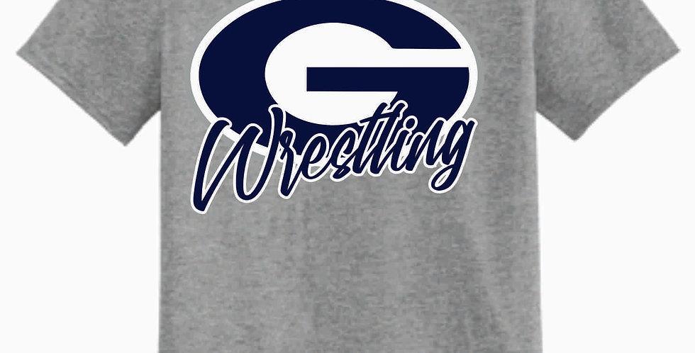 Granville Wrestling Grey Simple T Shirt