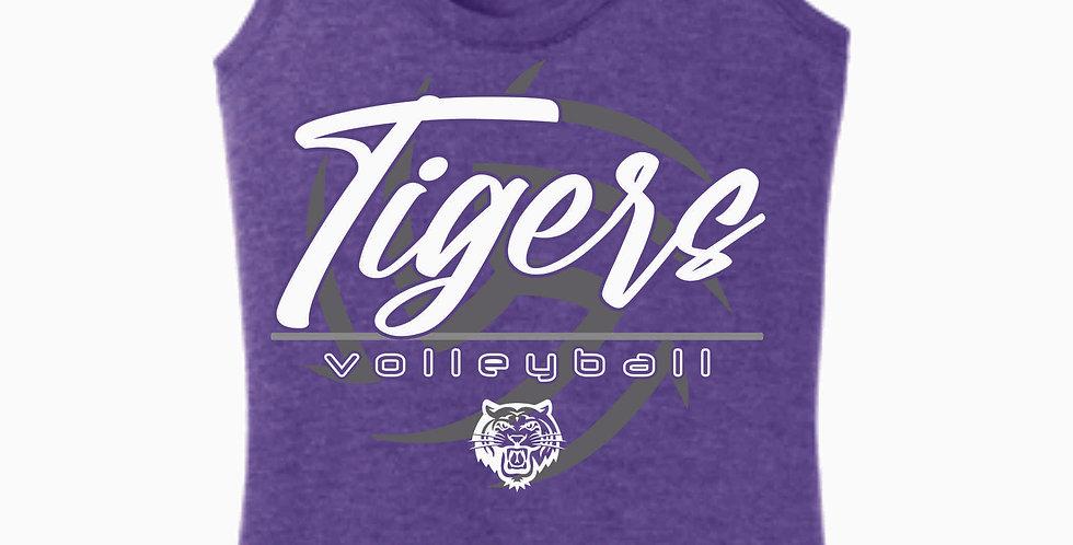 Tiger Volleyball Purple Ball Women's Tank