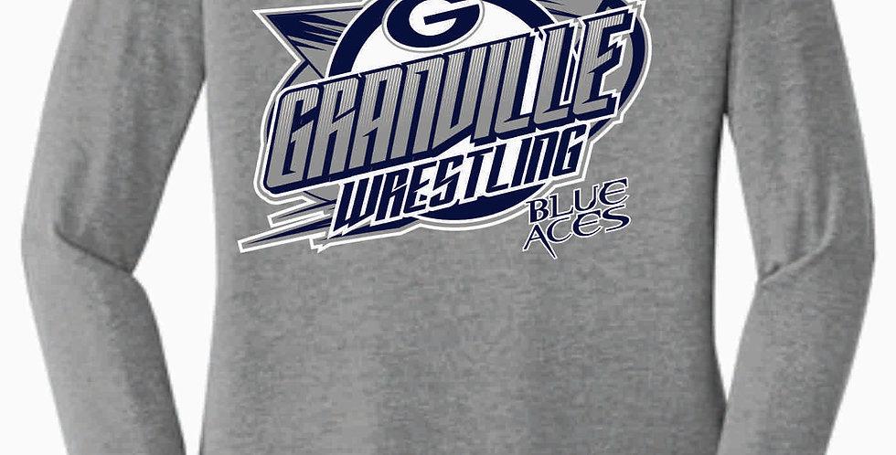 Granville Wrestling Women's Longsleeve Grey T shirt