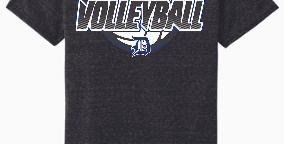 Danville Volleyball Black Soft Jerzee Snow Heather Tee