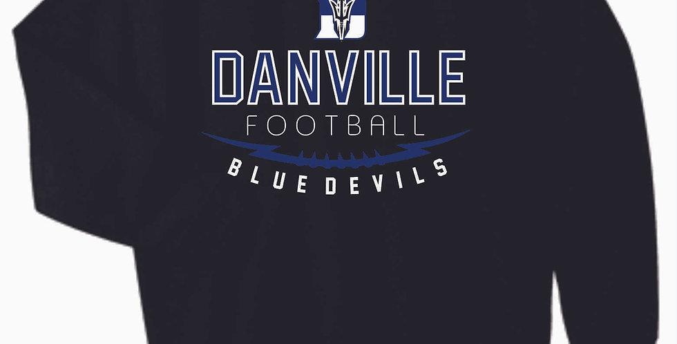 Danville Football Black Cotton Crew