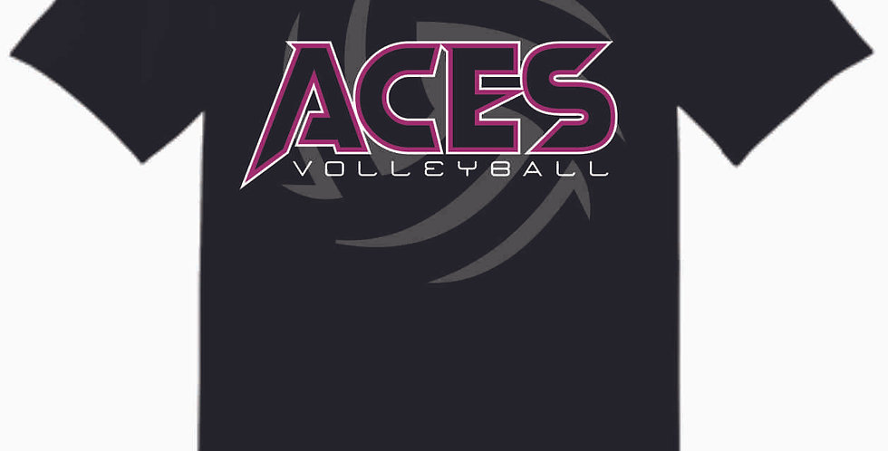 Aces Volleyball  Black T Shirt