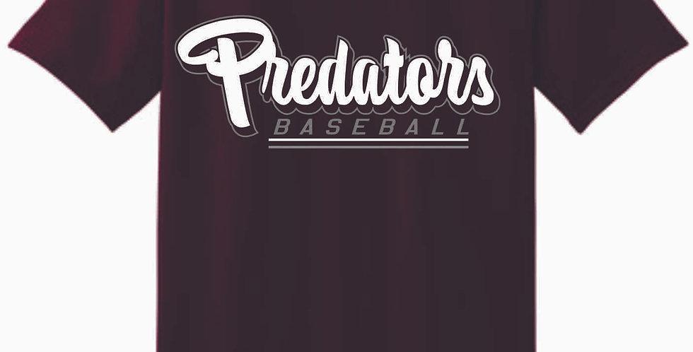Predators Gildan Cotton Maroon T Shirt