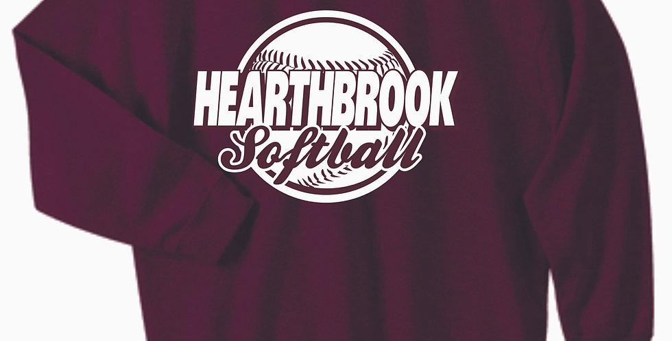 Newark Youth Softball Hearthbrook Maroon Cotton Crewneck