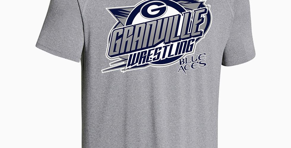 Granville Wrestling Under Armour Grey Dri Fit Shortsleeve
